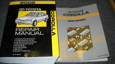 2002 TOYOTA COROLLA Service Repair Shop Manual Set OEM FACTORY W EWD
