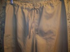 Khaki scrubs pants nurse dental medical unisex M Cherokee 4100 drawstring cargo