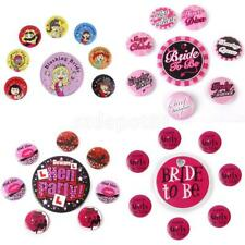 8x Bride To Be Hen Night Bridesmaid Badge Brooch Plates Bachelorette Party Favor