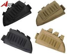 Airsoft Tactical Hunting Rifle Shotgun Stock Ammo Pouch Holder Right / Left Hand