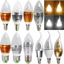 Flame Dimmable E14 E27 3W 9W 12W High Power LED Chandelier Candle Light Bulb