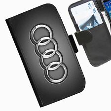 Audi Glow Leather wallet phone case for iPhone Samsung Sony Huawei Blackberry