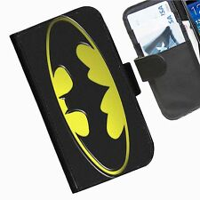Batman Sign Leather wallet phone case for iPhone Samsung Sony Huawei Blackberry