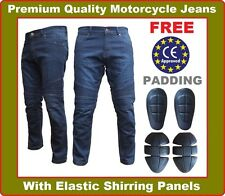 Mens Motorbike Motorcycle Jeans SKINNY FIT Denim with Protective Lining