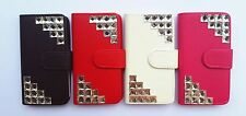 Bling Crystal Diamond PU leather Card Holder Wallet Pouch FOR HTC Phones