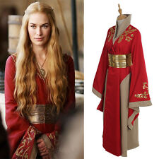 Costume Queen Cersei Lannister Red Luxury Dress Game Of Thrones Cosplay Costume
