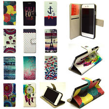 New Design Flip Leather Wallet Case Cover w/ Card Holder for iPhone Samsung