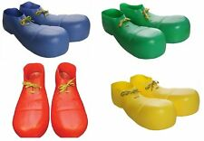 Adult Plastic Clown Circus Jumbo Shoes Bozo Goofy Oversized Costume Accessory