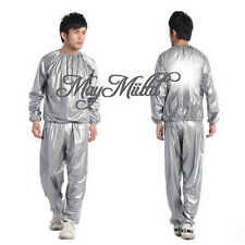 Gym Workout Yoga Exercise Unisex Sauna Sweat Suit Slim Down Weight Loss M