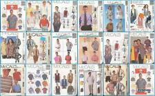 OOP McCalls Sewing Pattern Mens Shirts Tops You Pick Fathers Day Gift Ideas