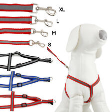 STEP IN DOG HARNESS ADJUSTABLE NYLON HARNESSES EASY TO USE WALKING NO CHOKE PET