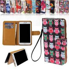 Folio Wallet Card Stand Leather Magnetic Case Cover For Various Samsung Phones