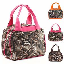 Natural Camo Camouflage Insulated Cooler Lunch Bag Thermal Tote Box Lunchbox