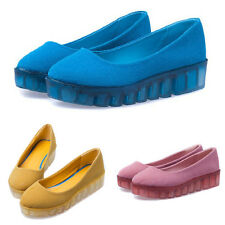 Female New Sneakers Fashion Slip On High Platform Wedge Shoes Creepers Sandals