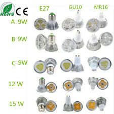 Ultra Bright MR16 GU10 E27 CREE LED Spot light down light lamp bulb 9W/12W/15W