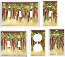 CHILI PEPPERS IMAGE 30  LIGHT SWITCH COVER PLATE  U PICK PLATE SIZE