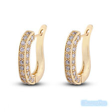18K Gold Plated White Zircon Ear Hook Earring Jewelry   For Women