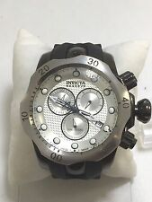 Men's Invicta 16155 Venom Black Polyurethane Silver Chronograph Dial Watch