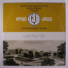 NORTH TEXAS STATE UNIVERSITY LAB BAND: Live! ('72-'73) LP (shrink) rare Soul