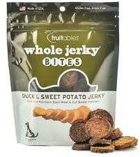 Fruitables Natural Whole Jerky DUCK & SWEET POTATO  Dog Treats 5 oz MADE IN USA