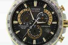 Men's Citizen AT4004-52E Eco-Drive Two-Tone Stainless Steel Chronograph Watch