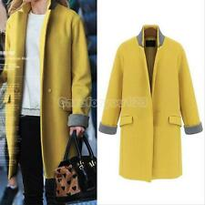 Fashion Women's Warm Wool Cashmere Long Winter Parka Coat Trench Jacket Outwear