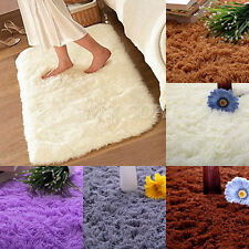 80x50cm Bathroom Foam Shaggy Rug Anti Slip Bath Bedroom Floor Mat Shower Carpet