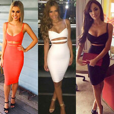 Womens Sexy Backless Straps Bodycon Bandage Evening Party Cocktail Short Dress