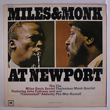 MILES DAVIS & THELONIOUS MONK: At Newport LP (Mono, some cover wear) Jazz
