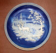 Bradford Exchange Blue Incolay Plate AT STREAM'S EDGE w/orig box and cert.