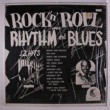 VARIOUS: Rock 'n' Roll Versus Rhythm And Blues LP (re, shrink) Blues & R&B