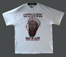 BIN LADEN T-Shirt White Americas most wanted Various Sizes M L XL 100% Cotton