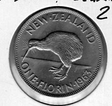 1963 New Zealand 2s. Very nice looking coin. Includes Free shipping in US.