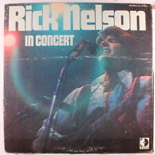 RICK NELSON: In Concert LP (gatefold cover sl cw, w/ company inner sleeve) Rock