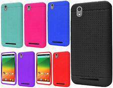 For ZTE lever Z936 Rugged Rubber SILICONE Soft Gel Skin Case Cover Accessory