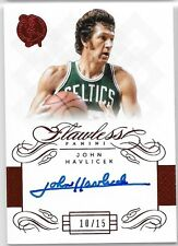 13-14 Flawless Collection RED Ruby Legendary On-Card Auto John Havlicek #10/15