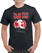 244 We All Float mens T-shirt scary clown movie horror pennywise 80s 80s cult