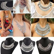 Women Boho Gypsy Ethnic Tribal Retro Coin Necklace Belly Dance Bohemian Festival