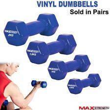 Vinyl Dumbbells Set Home Gym Fitness Exercise Body Toning Aerobic Free Weights