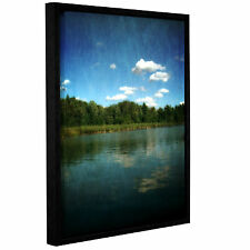 ArtWall Kevin Calkins ' River Reflections ' Gallery-Wrapped Floater-Framed Canva