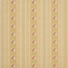 D128 Gold White And Red Floral Striped Brocade Upholstery Fabric