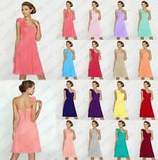 New Short Chiffon Formal Evening Ball Gown Party Prom Bridesmaid Dress Size 6-18