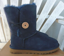 UGG Navy Bailey Button Sheepskin Boots Short Classic Choice of Sizes New $165