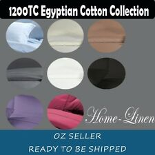 1200TC Egyptian Cotton Quilt Cover/Sheet Set Flat/Fitted Sheet/Pillowcases