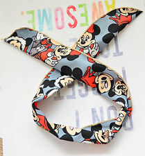 Women Ladies Girls Kids Minnie Mouse Ear Bow Wire Party Hair Head Band Headband