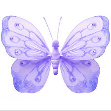 Kids Room Decoration Purple Butterfly Decor Lavender Wall Hanging Bathroom Baby