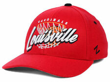 Louisville Cardinals NCAA Swish Hoops Basketball Black Fashion Fitted Hat Cap KY