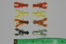"100 Mini Crawfish Fishing Lures - 1 1/2"" Jiggin Craw - Crappie/Bream/Bluegill"
