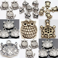 Lots 5/20pcs Tibet Silver Animals Pendants DIY Loose Spacer Beads Jewelry Making