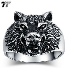High Quality TT 316L Stainless Steel Wolf Ring Size 9-12 (RZ116) Small NEW